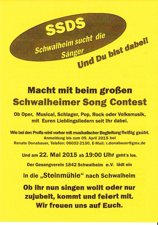 SSDS - Schwalheimer Song Contest
