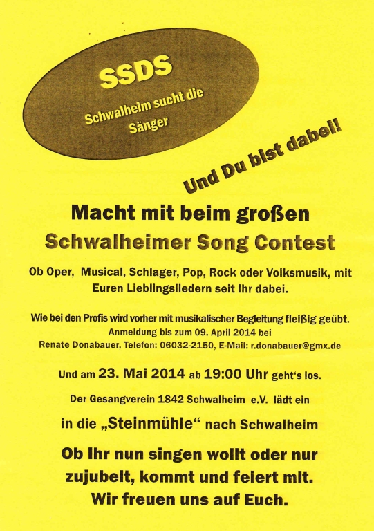 Schwalheimeer Song Contest 2014